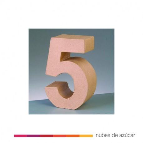 Número 5 Cartón Craft 17.5x5.5