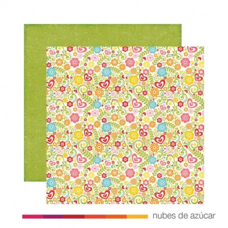 Papel doble cara Hs105010 summer blossoms