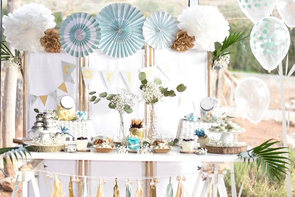 Mesa dulce para el bautizo de Carles